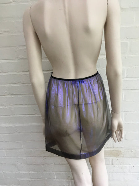 JASMINE DI MILO SEETHROUGHT METALLIC MINI SILK SKIRT  Ladies