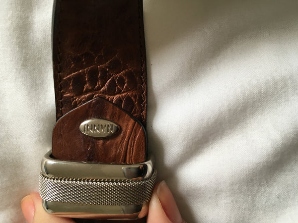 Nanni Belt Italy Brown Leather 90/36 Men