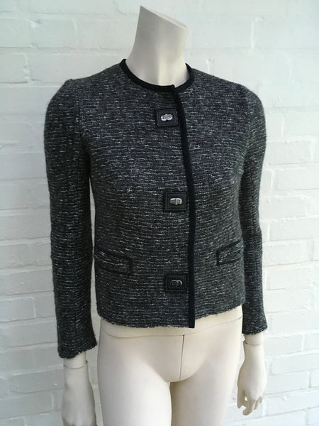 ISABEL MARANT WOOL BLEND Kios combed jacket Size F 36 UK 6 US 2 XS LADIES
