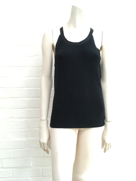 Joseph Black Lurex Knit Tank Top Ladies