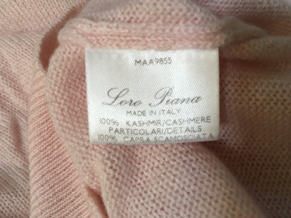 LORO PIANA LONG SLEEVE KNIT CASHMERE JUMPER SWEATER SIZE I 46 L LARGE LADIES
