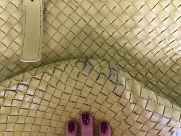 Bottega Veneta Cesta Intrecciato Leather Shopping Bag Tote Handbag Ladies