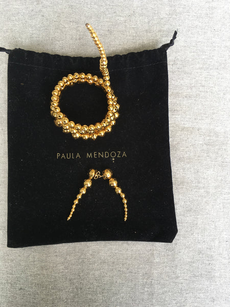 Paula Mendoza Serene Drop Earrings 24k gold-plated LADIES
