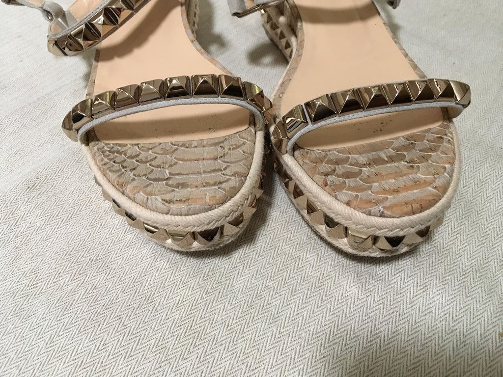 christian louboutin studded espadrille sandals