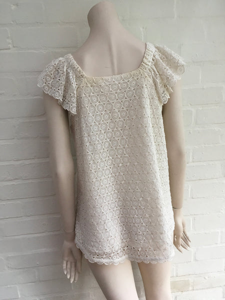 CHLOÉ Crocheted lace top Ladies