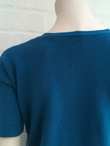 IRIS & INK Pure Wool Turquoise Knitted Top Sweater Jumper  Ladies