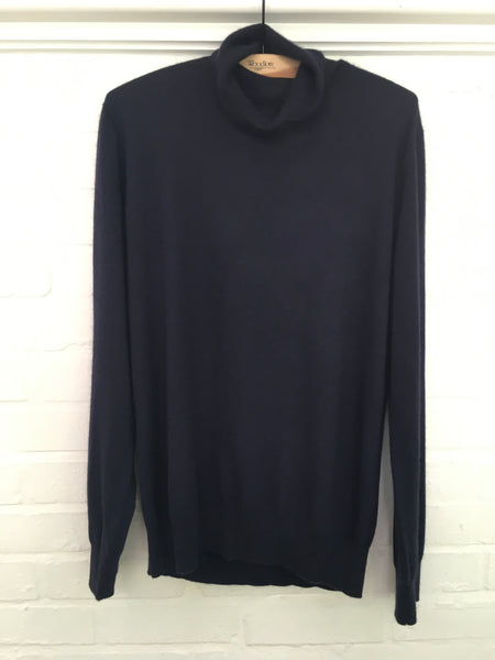 BURBERRY LONDON SUPERFINE ROLL NECK TURTLE CASHMERE KNIT SWEATER JUMPER M MEDIUM Men