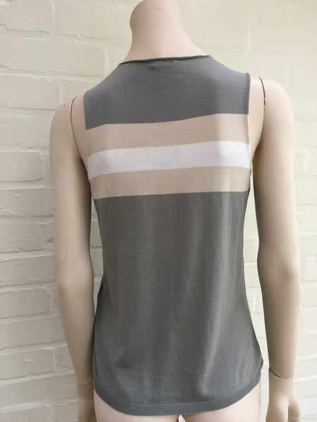 MALO SLEEVELESS KNIT TOP SIZE 42 M MEDIUM LADIES