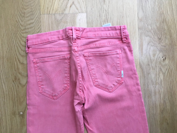MOTHER THE LOOKER POP! DYE-BRINK PINK Skinny Jeans  Ladies