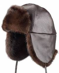 American Legend Finest Mink trapper Ushanka Russian Hat Size L Men