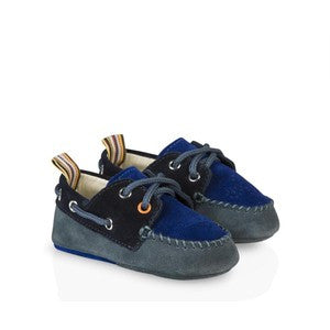 Paul Smith Junior Baby Boys' Suede Drury Boat Shoes Size 17/18