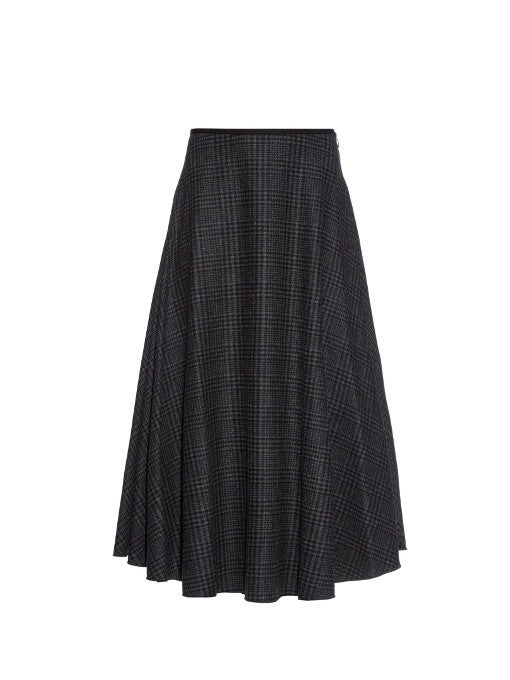675df1f360 LANVIN Hiver 2015 Prince Of Wales-Check Wool Skirt Size F 38 S Small New