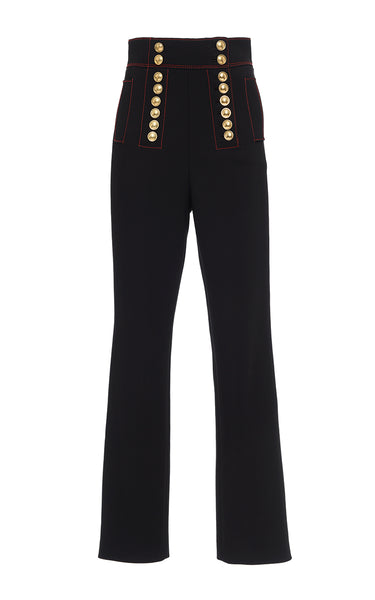 BURBERRY PRORSUM 2018 High Waist Military Pants Trousers Ladies