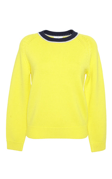Mira Mikati Women's Look Patched Yellow Wool Sweater Jumper Size M Medium Ladies