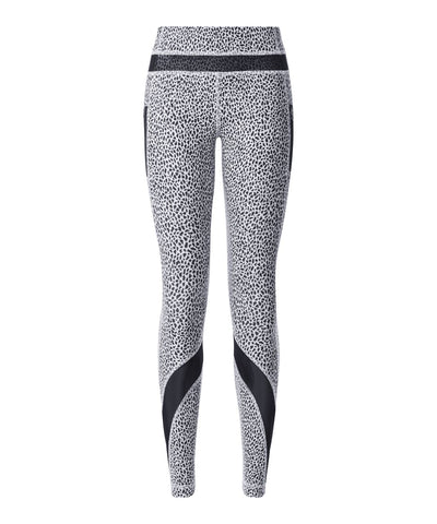 Lululemon Inspire Tight II Miss Mosaic White / Black Leggings size US 6 UK 10 ladies