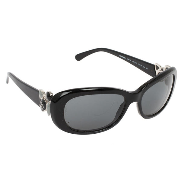 Chanel 5181-B Black Rectangle Gripoix CC Women Sunglasses ladies