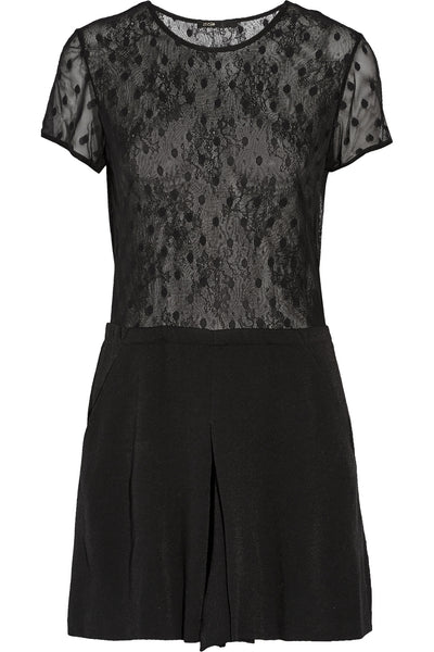 MAJE black lace Glaieuil playsuit romper Size S Small ladies