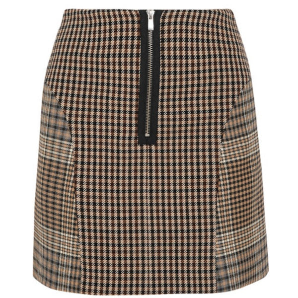 Maje Joxy Prince Of Wales And Houndstooth-twill Mini Skirt Size F 38 UK 10 US 6 ladies