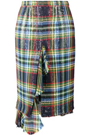Marco de Vincenzo asymmetric tartan check sequins skirt LADIES