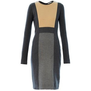 Max Mara Fagotto Wool Colorblock Dress 40 UK 10 US 6 Ladies