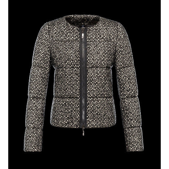 MONCLER AURONE GREY WOOL JACKET SIZE S SMALL LADIES