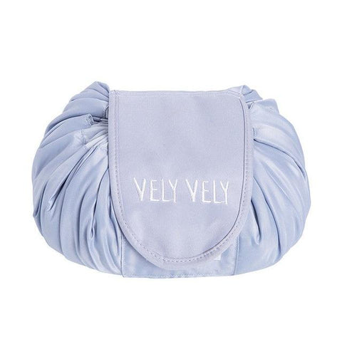 Vely Vely Lazy Cosmetic Bag Drawstring Wash Bag Makeup Organizer Storage Travel Ladies