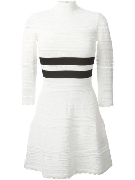 Alexander McQueen Victorian lace white knit dress Ladies