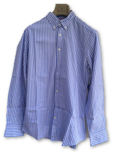 HACKETT LONDON LONG SLEEVE BUTTON-UP STRIPED SHIRT SIZE M MEDIUM Men