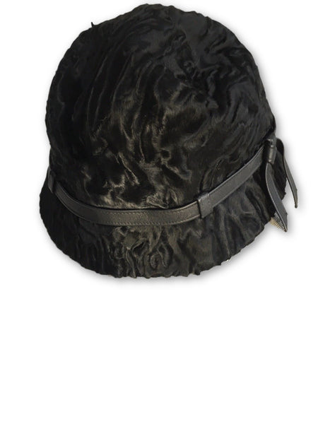 Birger Christensen lamb persian astrakhan fur bucket hat LADIES