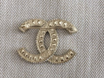 Chanel 17P Large Crystals Pin CC Logo Silver Brooch AMAZING 2017 Ladies