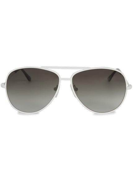 Orlebar Brown Men's Esiri White Aviator Style Sunglasses Men