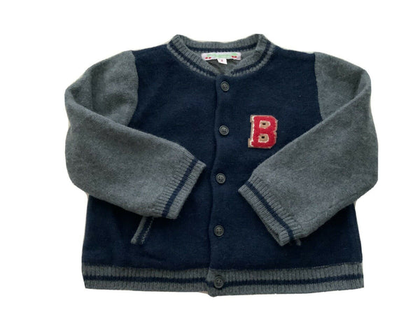 BONPOINT BABY WOOL ANGORA B VARSITY BOMBER JACKET Size 2 years children