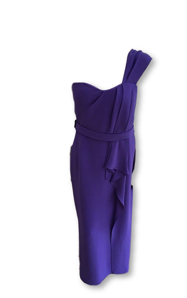 Oscar de la Renta Formal Gown Evening Dress Purple Long Elegant Size US 6 UK 10 Ladies