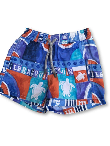 Vilebrequin Jim Turtle Kids Swim Shorts Truck Swimwear 2 years old Children