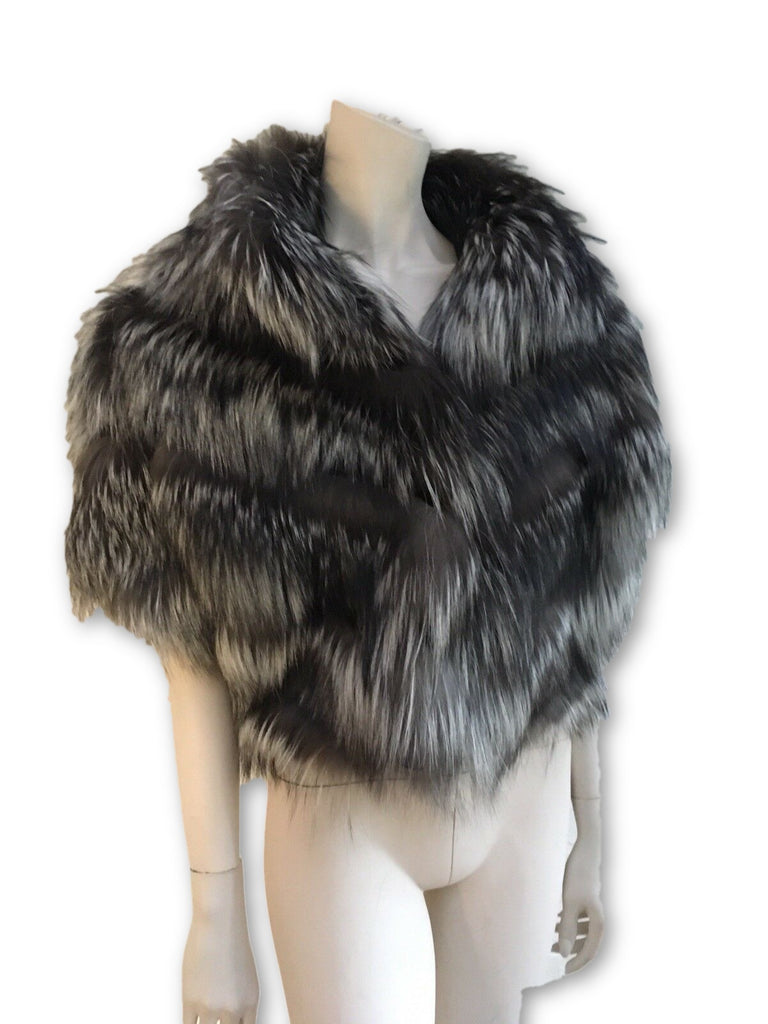 Birger Christensen Fox Fur Capelet Bolero Cropped Cape Ladies