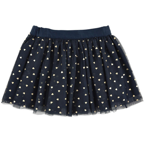 STELLA MCCARTNEY KIDS BLACK TULLE 'HONEY' SKIRT WITH GOLD HEARTS 10 YEARS Children