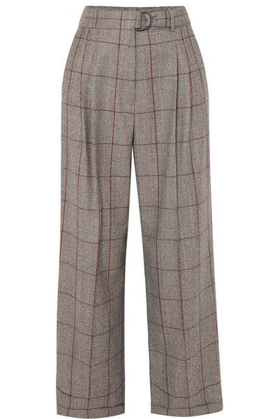 Brunello Cucinelli Prince of Wales checked wool pants I 40 UK 8 US 4 Ladies
