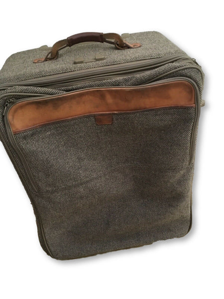 "Hartmann Wool Tweed Collection 27"" Expandable Suitcase Mobile Traveler Luggage Men"