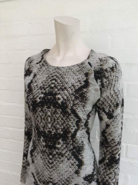 Zadig & Voltaire Rosie Print Deluxe Cashmere Knit Sweater Dress Size S Small Ladies