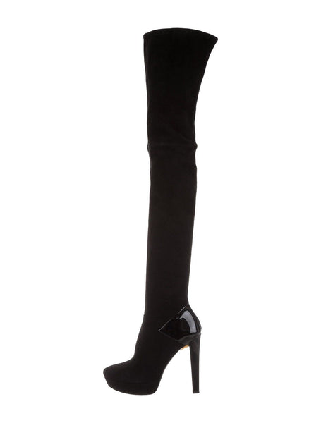 GUCCI Celebrities Suede Over-the-Knee Tight Boots Sz 37 UK 4 US 7 LADIES