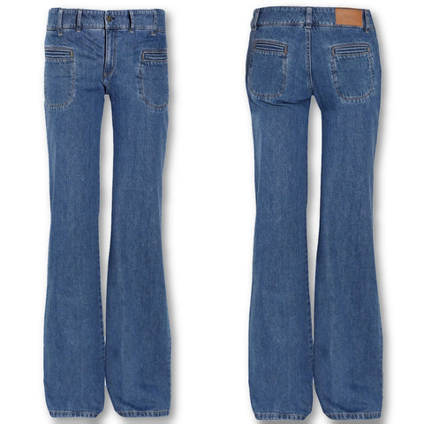 Chloé Chloe COLLECTOR'S Kate Moss Wide Leg Jeans Denim Ladies