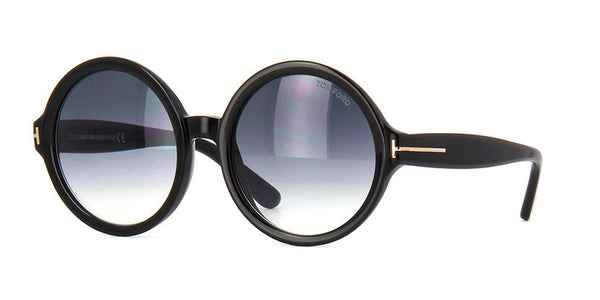 Tom Ford Juliet TF0369 01B S OVERSIZED SUNGLASSES Ladies