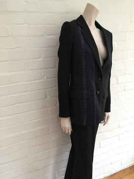 PORTS 1961 2016 Collection STRAIGHT-LEG WOOL PANTSUIT SIZE 46 XL Ladies
