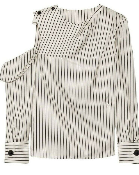 MONSE pin striped silk top blouse Size US 6 UK 10 ladies