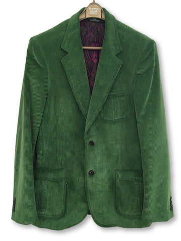 Burberry Green Corduroy Jacket Blazer Men
