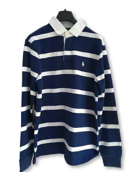 Ralph Lauren Men's Striped Rugby Top - Holiday Navy Size M Medium Men
