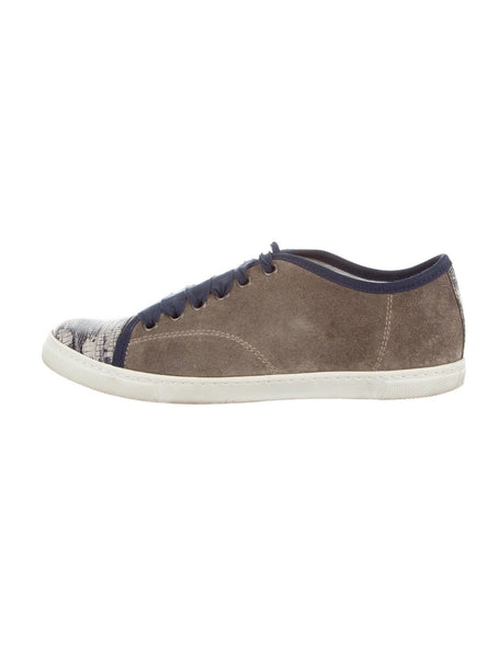 LANVIN suede cap-toe sneakers Trainers Shoes 35 UK 2 US 5 Ladies