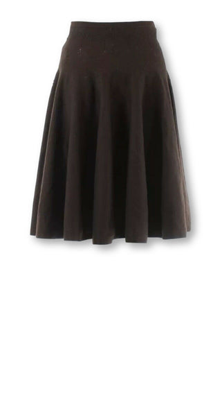 AZZEDINE ALAÏA ALAIA BROWN KNITTED WOOL SKIRT SIZE S SMALL ladies