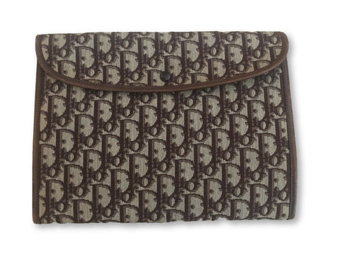 Christian Dior 1960's Diorissimo vintage  Leather Trim Clutch Pouch Ladies
