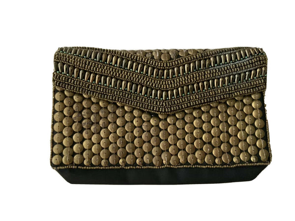 Bo Bo Beaded Embellished Made in India Clutch Bag ladies